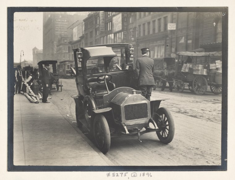 Alice Austen's Street Views of New York City, 1896 - Automobiles