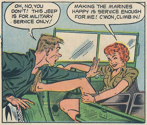 """Making the Marines happy is service enough for me!"""