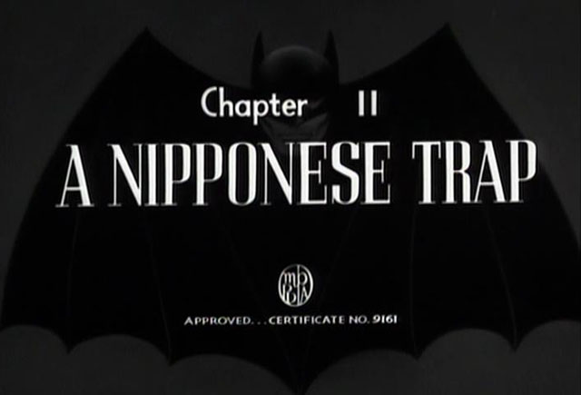 "Saturday Serials: ""A Nipponese Trap"" (Batman 1943, Chapter 11)"