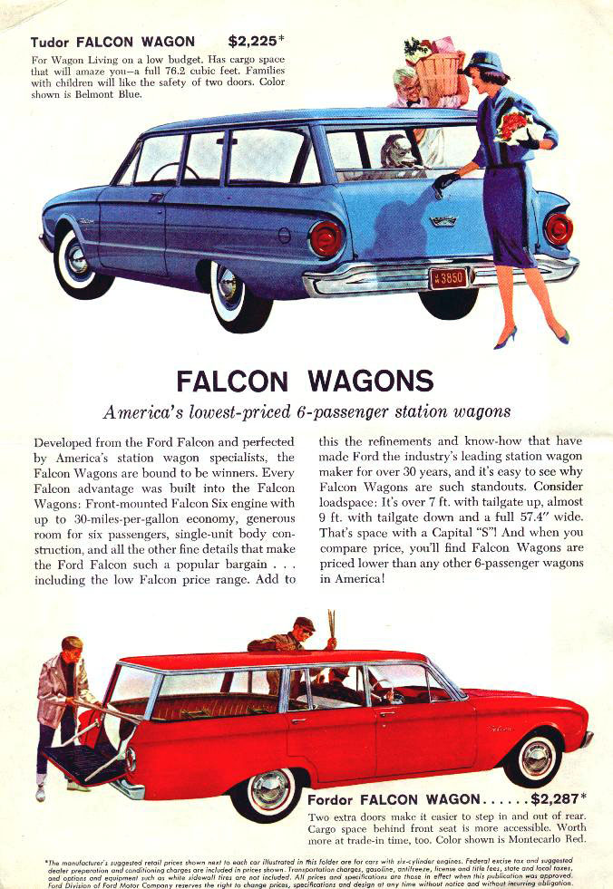 1960 Ford Falcon wagon advertisement