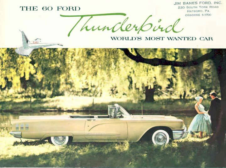 1960 Ford Thunderbird brochure page