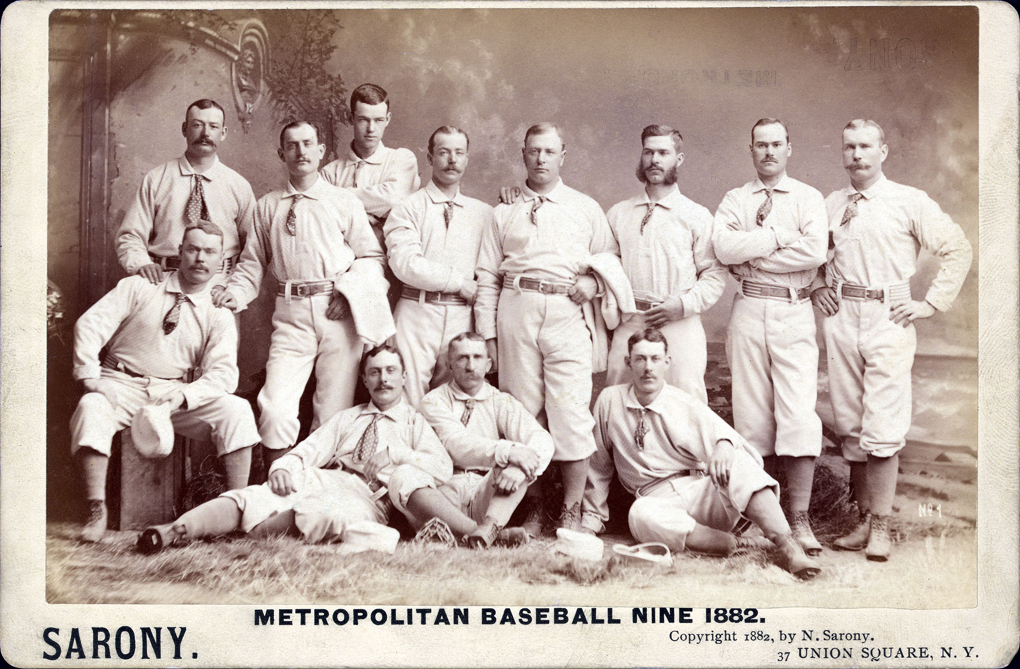 New York Metropolitans 1882 Team Portrait