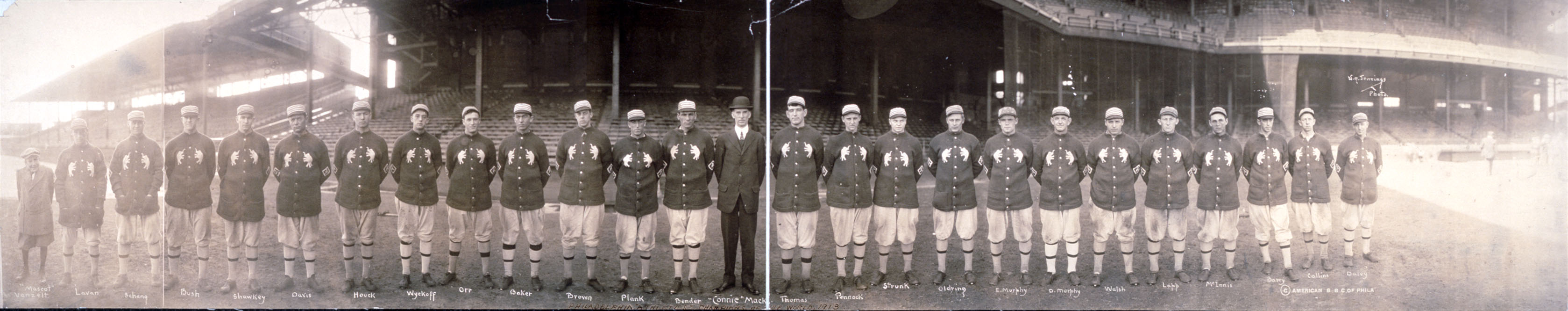 Philadelphia Athletics 1913 World Series Team Portrait