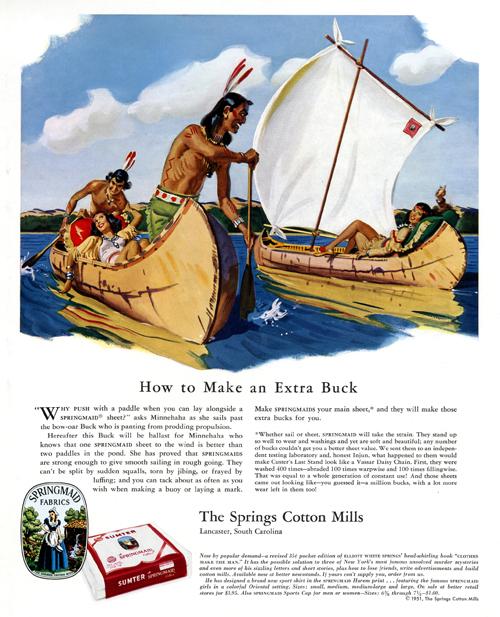 Vintage Springs Cotton Mills/Springmaid Fabrics ad