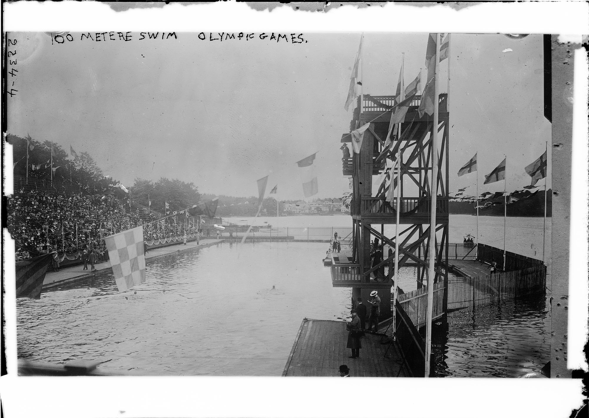 1912 Summer Olympics in Stockholm, Sweden - 100-meter swim