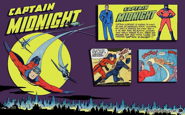 Free Wallpaper Friday: Captain Midnight