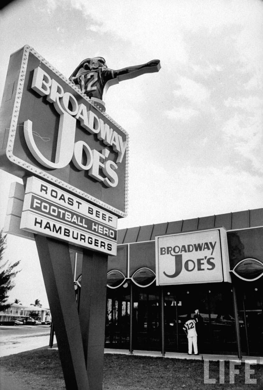 Broadway Joe's Restaurant - Miami, Florida, 1969