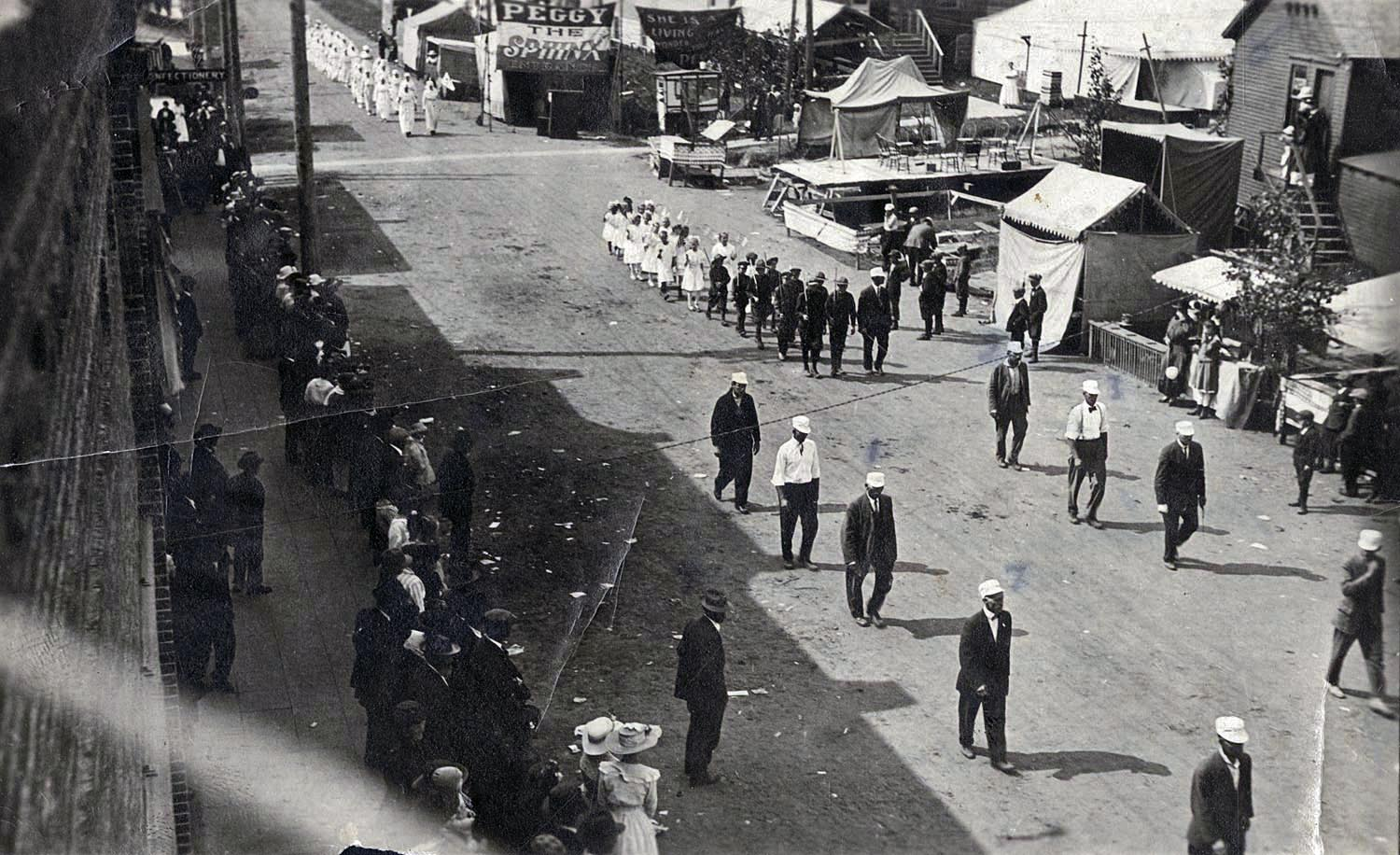 Civic League marching in the Labor Day Parade, September 5, 1917.