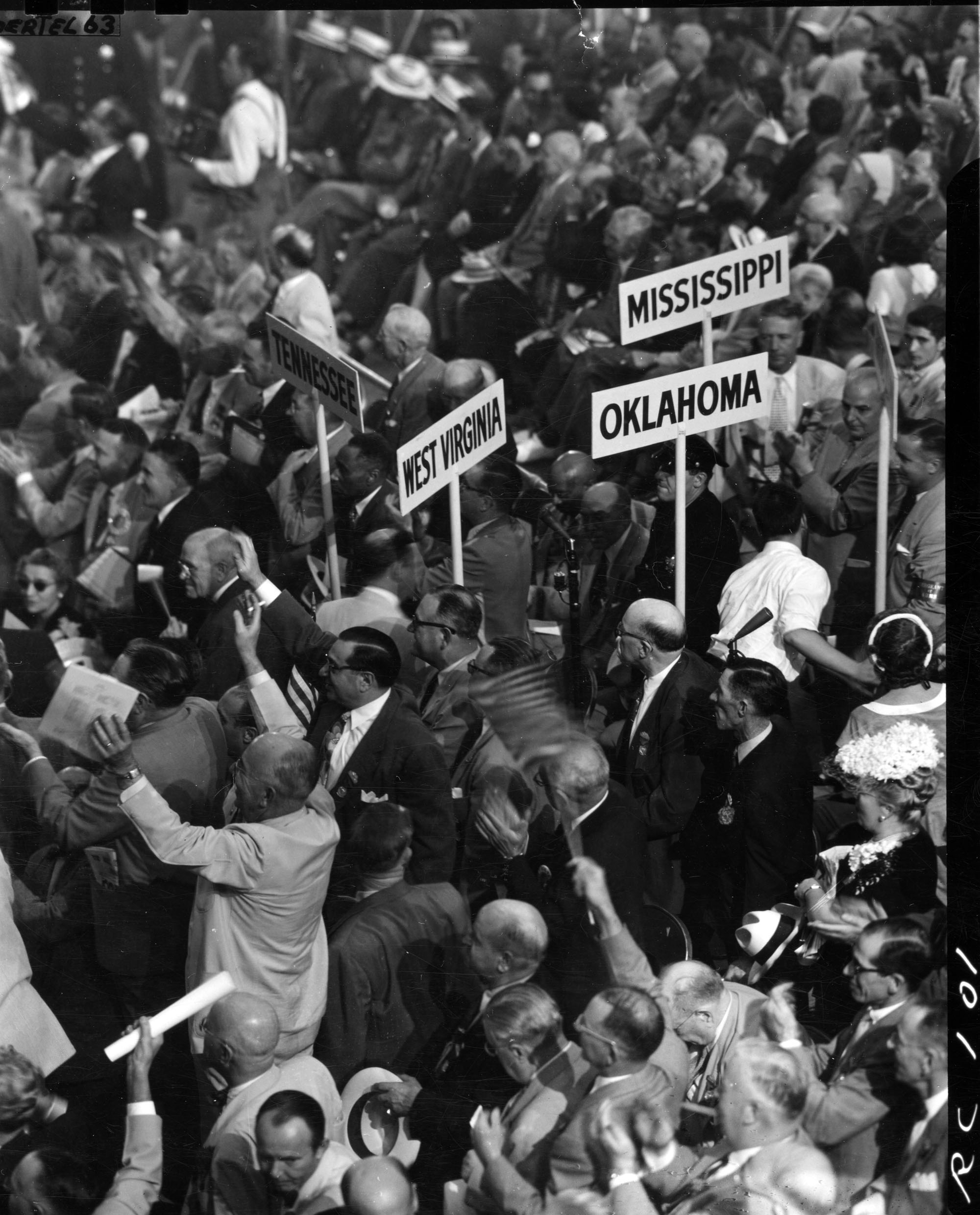 Attendees at the 1952 Republican National Convention, Chicago, Illinois