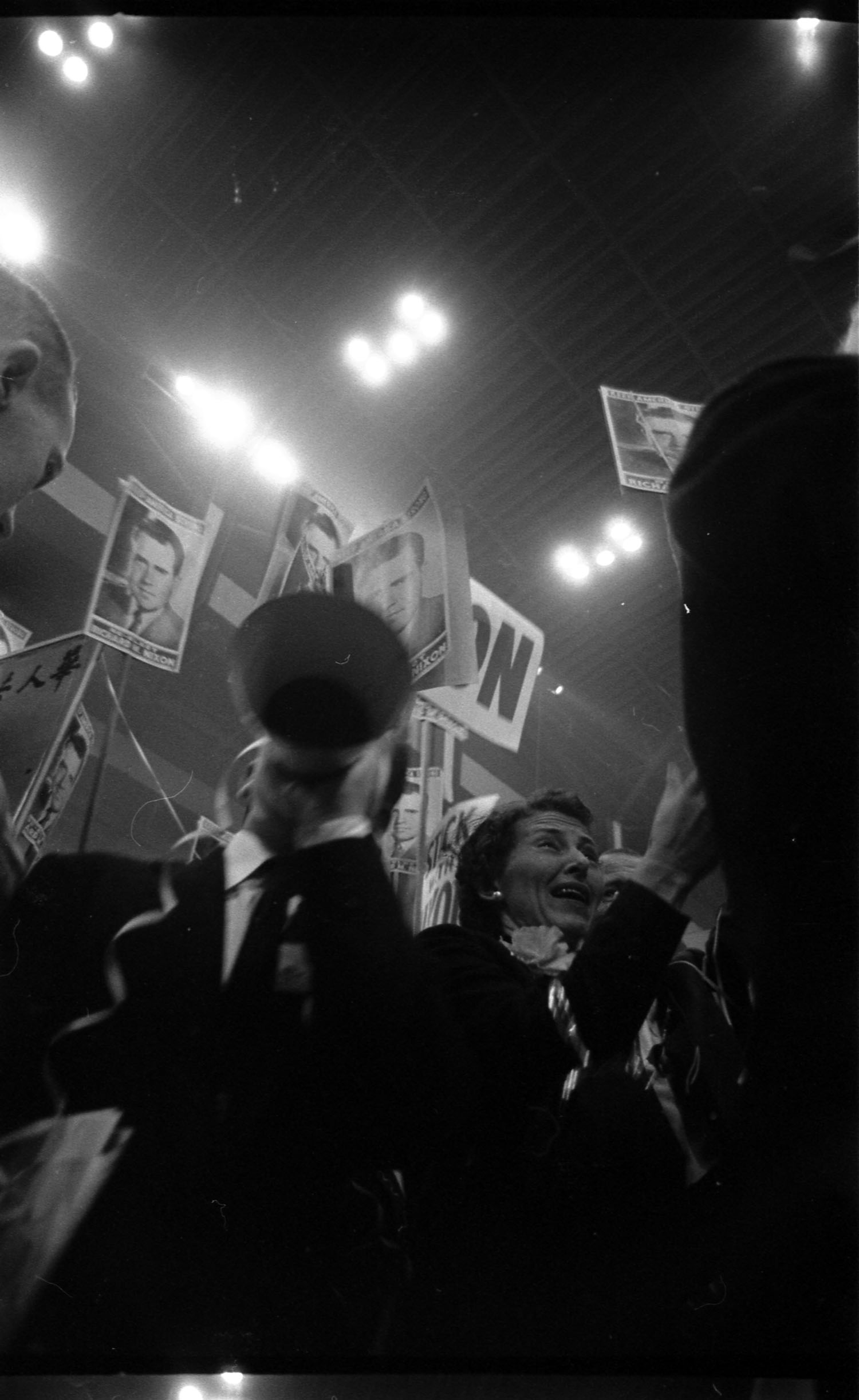 Attendees at the 1956 Republican National Convention, San Francisco, California