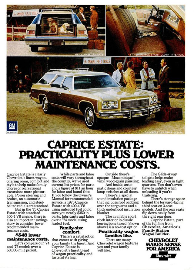 1975 Chevrolet Caprice Estate ad
