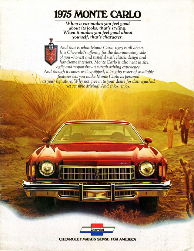 1975 Chevy Monte Carlo brochure scan