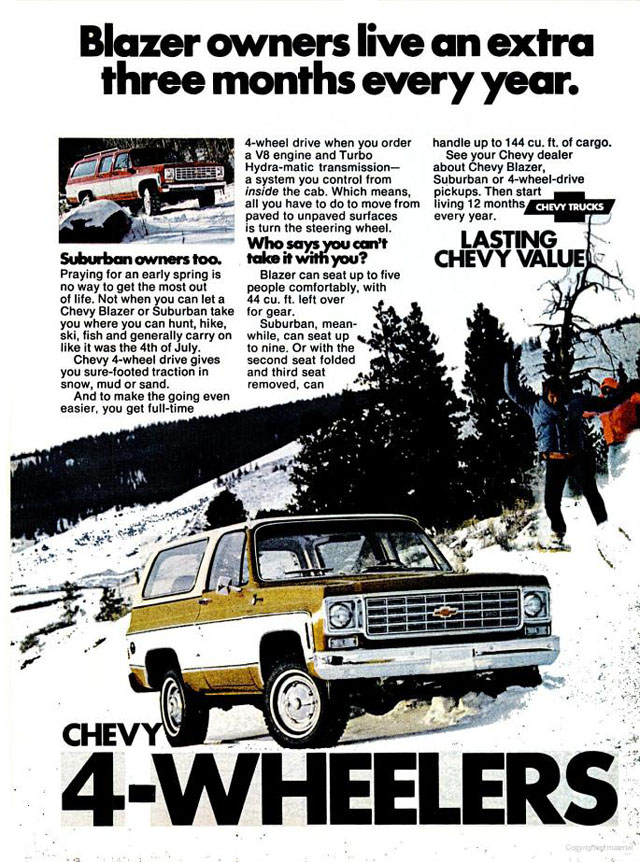 1975 Chevrolet 4-Wheel Trucks ad