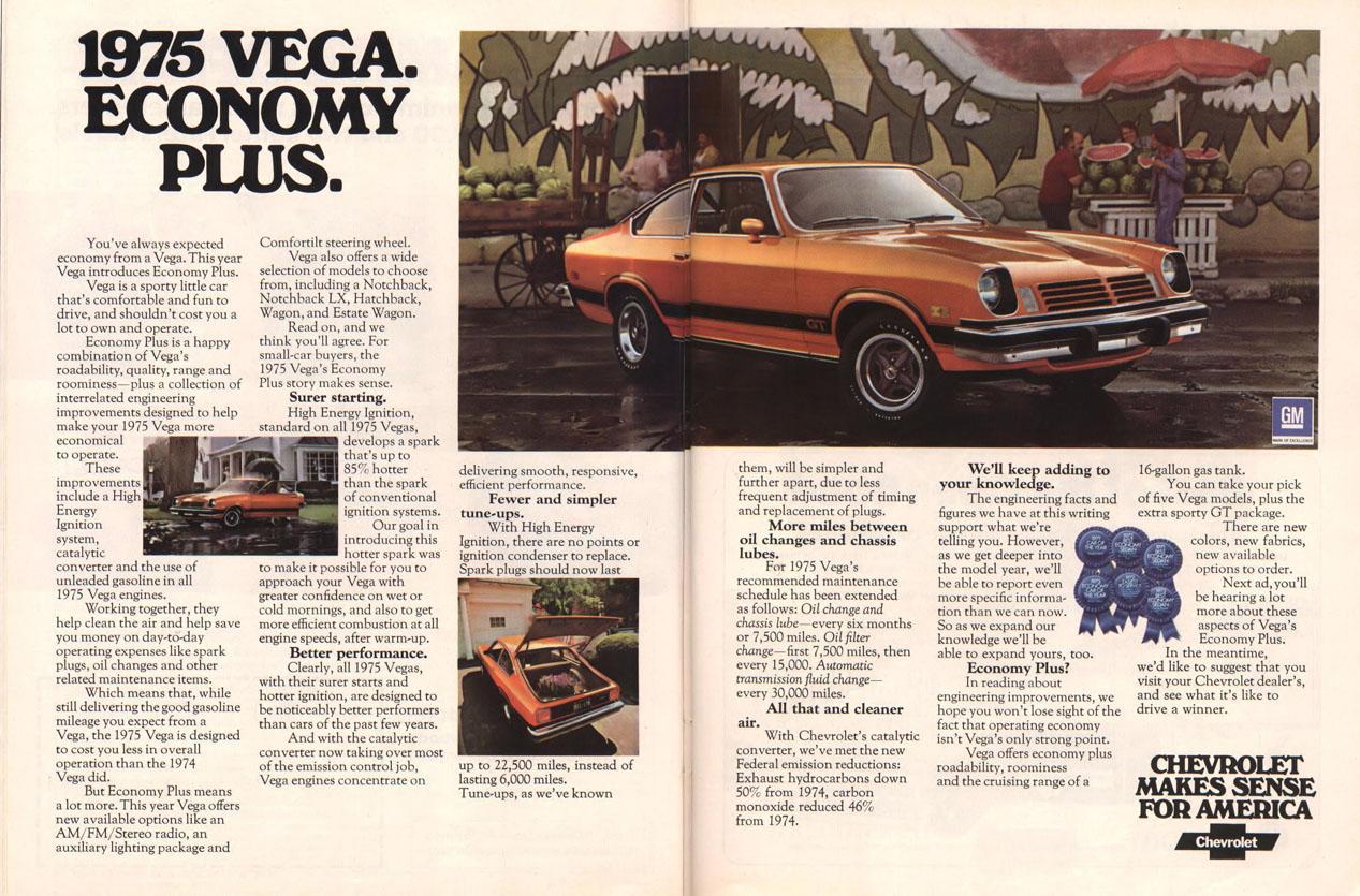 1975 Chevy Vega ad