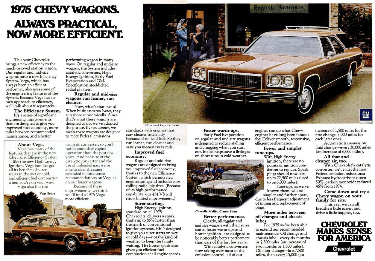 1975 Chevrolet Wagons ad