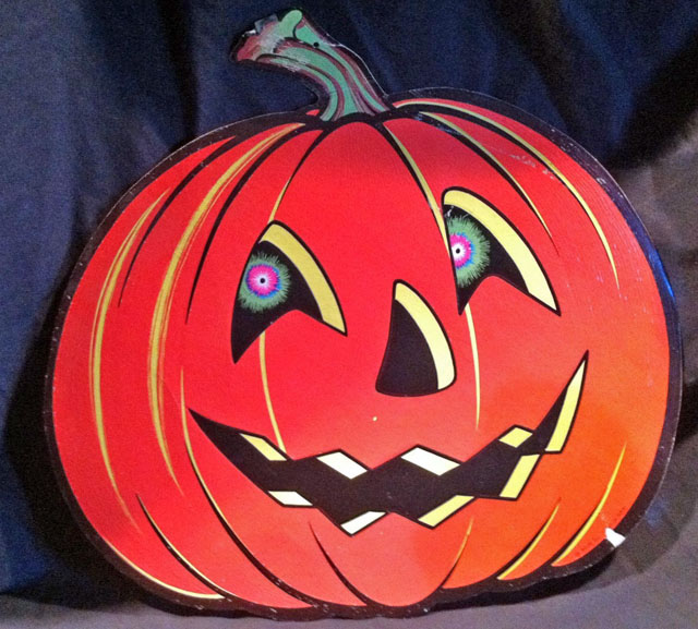 Vintage Beistle Halloween decoration - Jack-O-Lantern
