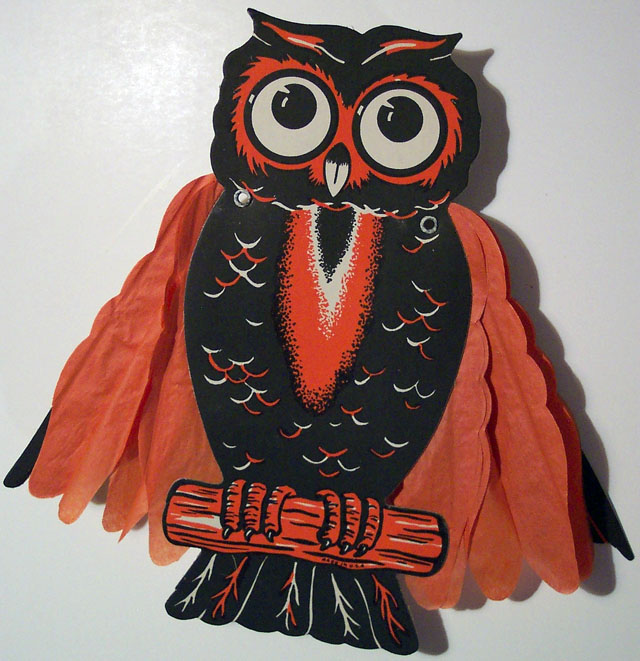 Vintage Beistle Halloween decoration - Owl