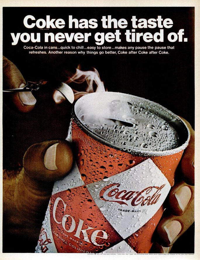 Coca-Cola ad (Ebony magazine - August 1967)