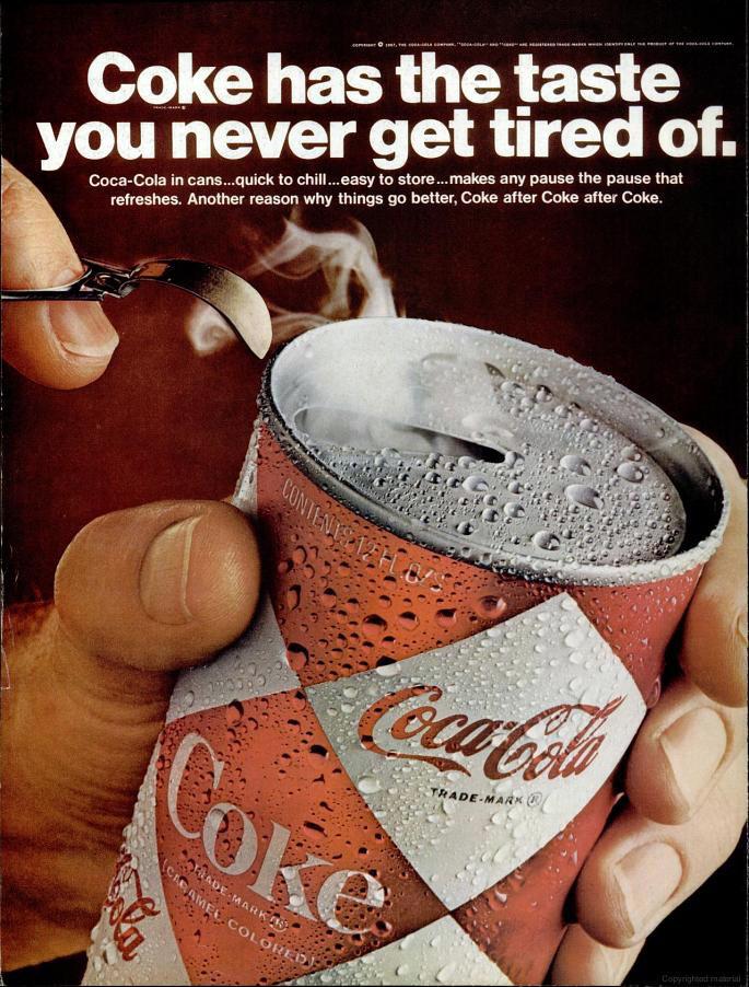 Coca-Cola ad (Life magazine - August 18, 1967)