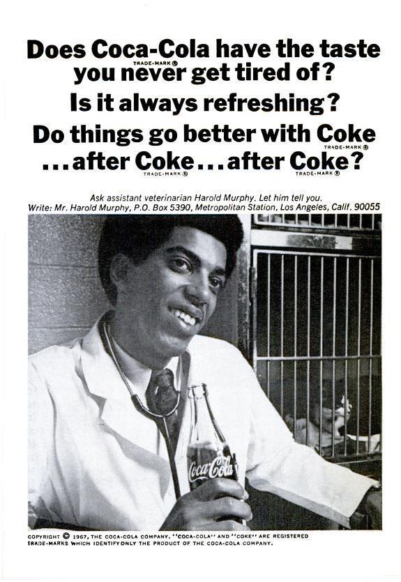 Coca-Cola ad (Jet magazine - November 9, 1967)