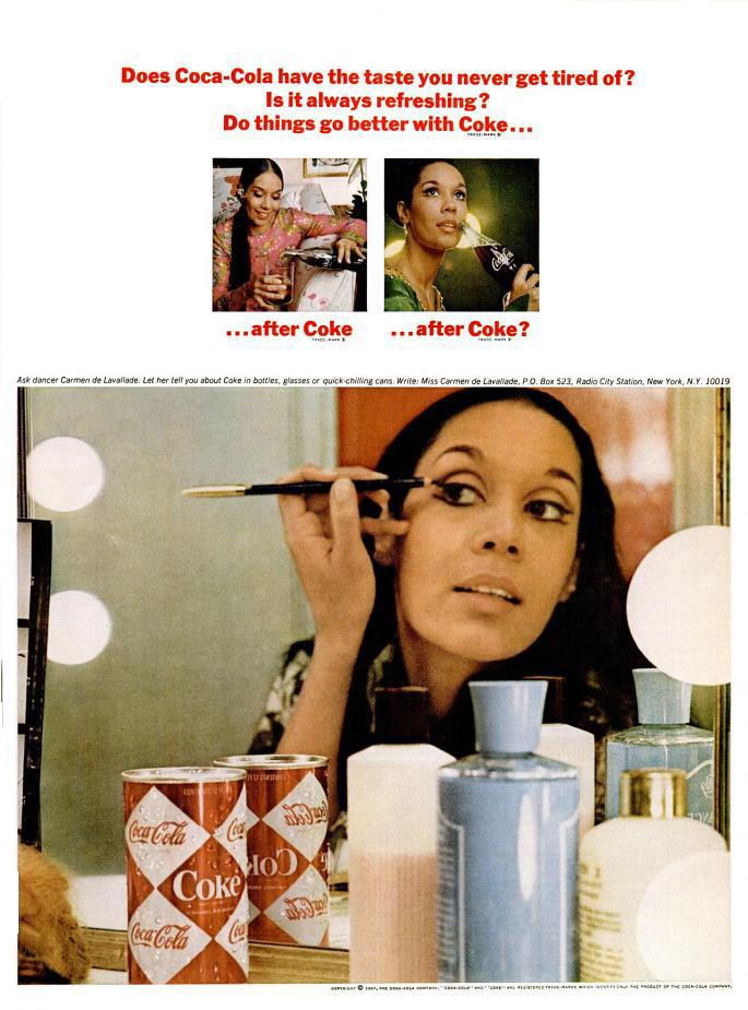 Coca-Cola ad (Ebony magazine - April 1967) feat. Carmen De Lavallade