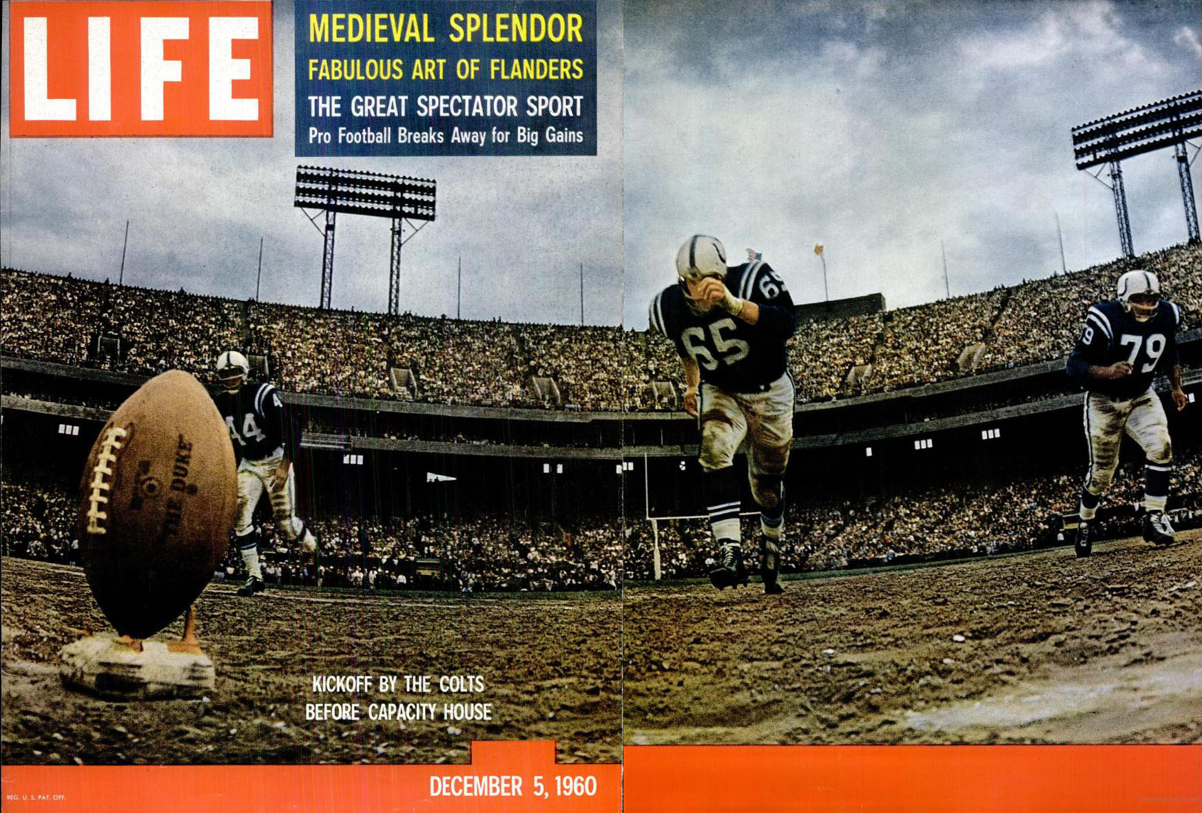 Life Magazine (NFL 1960) cover - December 5, 1960
