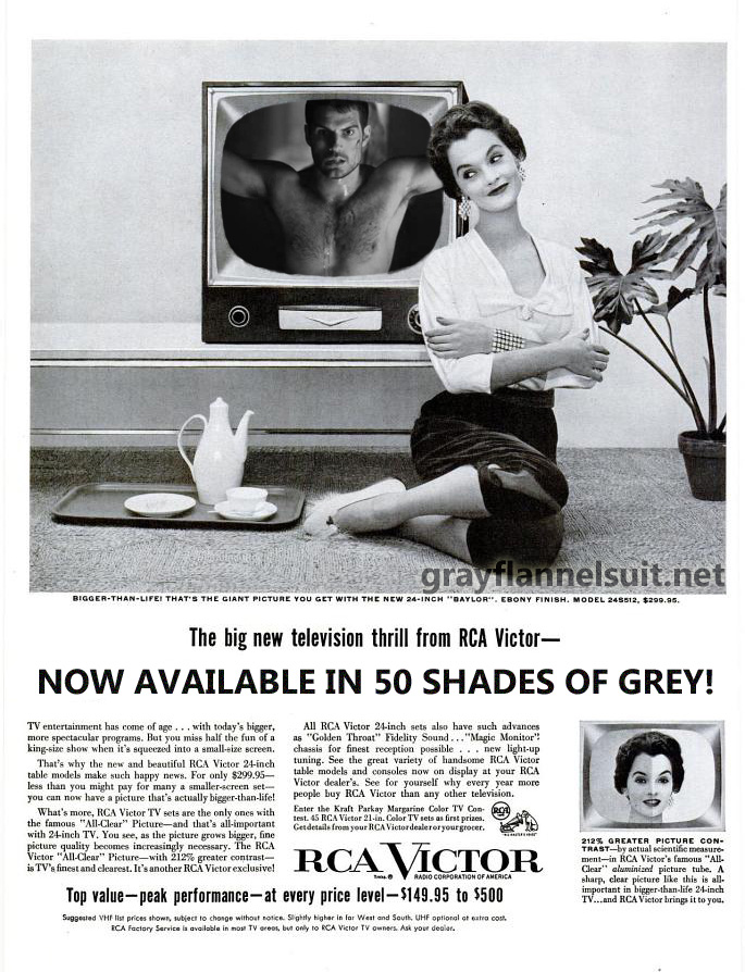 1955 RCA Victor Television in 50 Shades of Grey