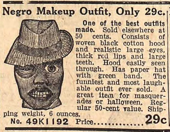 "Racist ""Negro Makeup Outfit"" - Fall 1912 Sears Catalog"