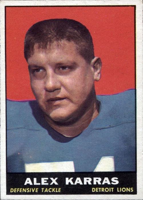 Alex Karras Detroit Lions football card (1961 Topps)