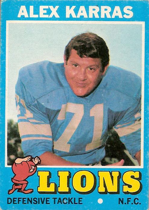 Alex Karras Detroit Lions football card (1971 Topps)