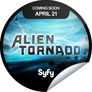 Syfy channel Alien Tornado GetGlue sticker