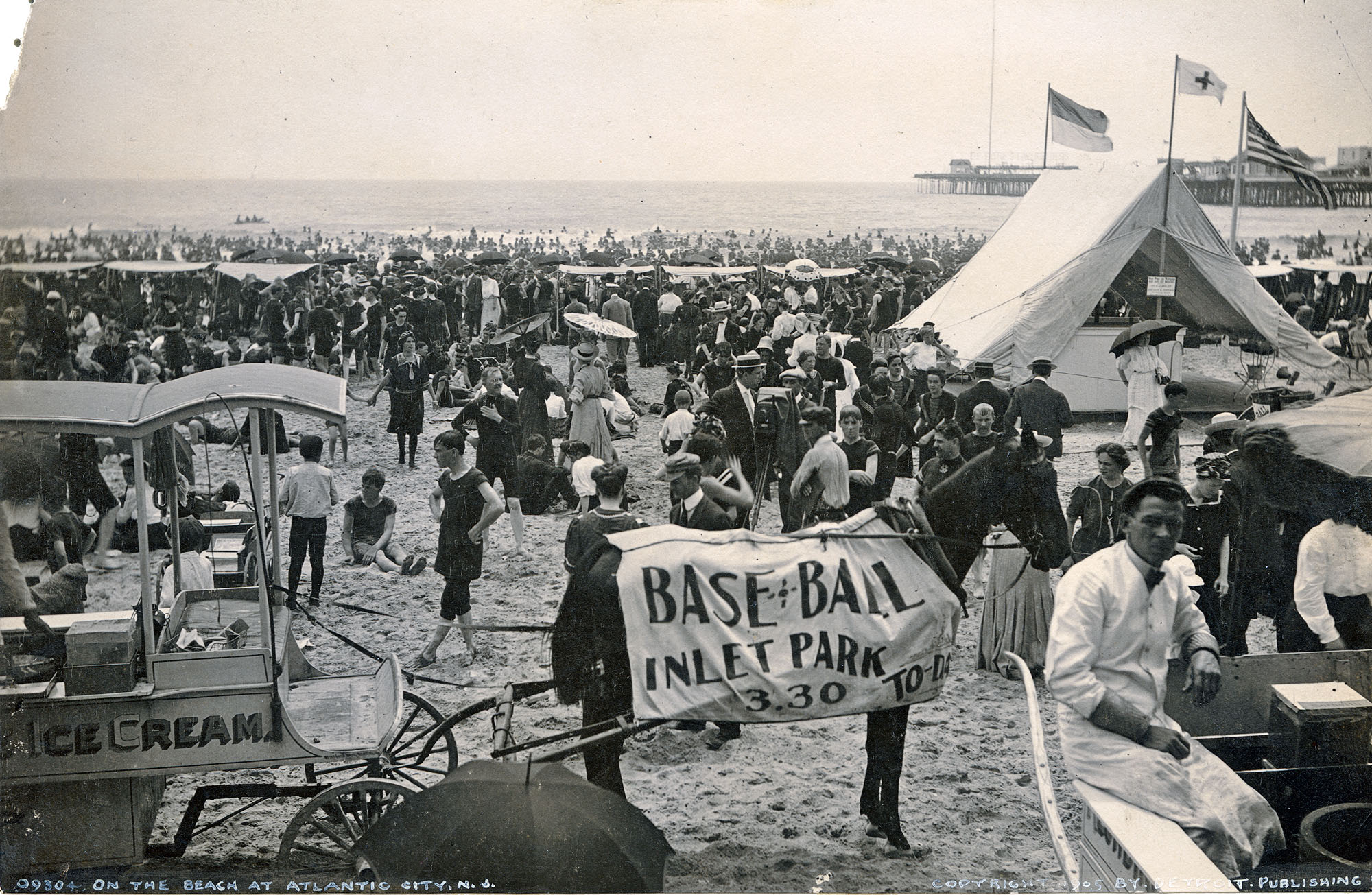 On the Beach, Atlantic City (1905)