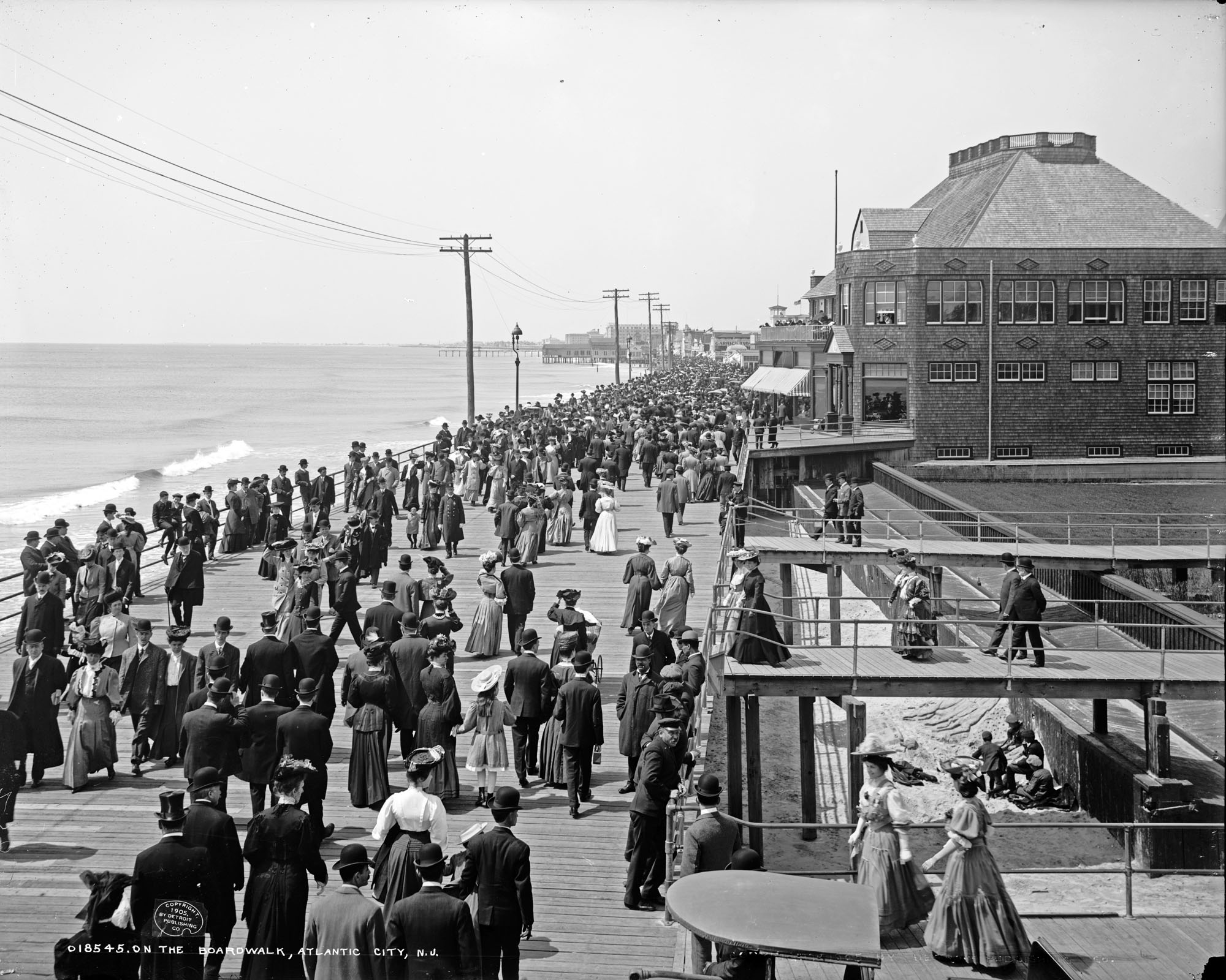 The Boardwalk, Atlantic City, N.J. (1905)