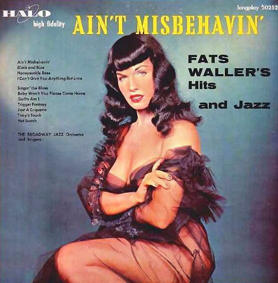 Ain't Misbehavin': Fats Waller's Hits and Jazz (Bettie Page album cover)