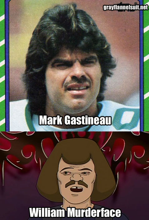 Separated at Birth? (Mark Gastineau and William Murderface)