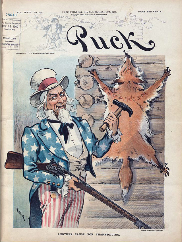 Puck magazine Thanksgiving cover - 1900