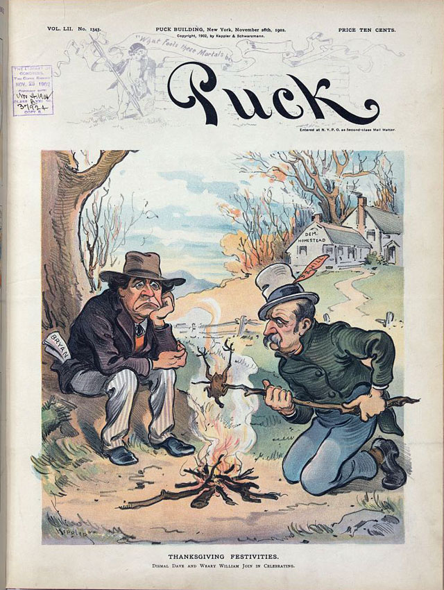 Puck magazine Thanksgiving cover - 1902