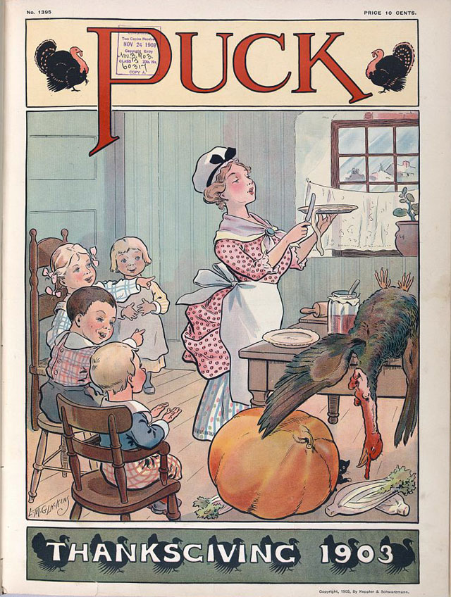 Puck magazine Thanksgiving cover - 1903