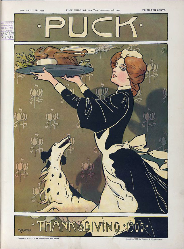 Puck magazine Thanksgiving cover - 1905