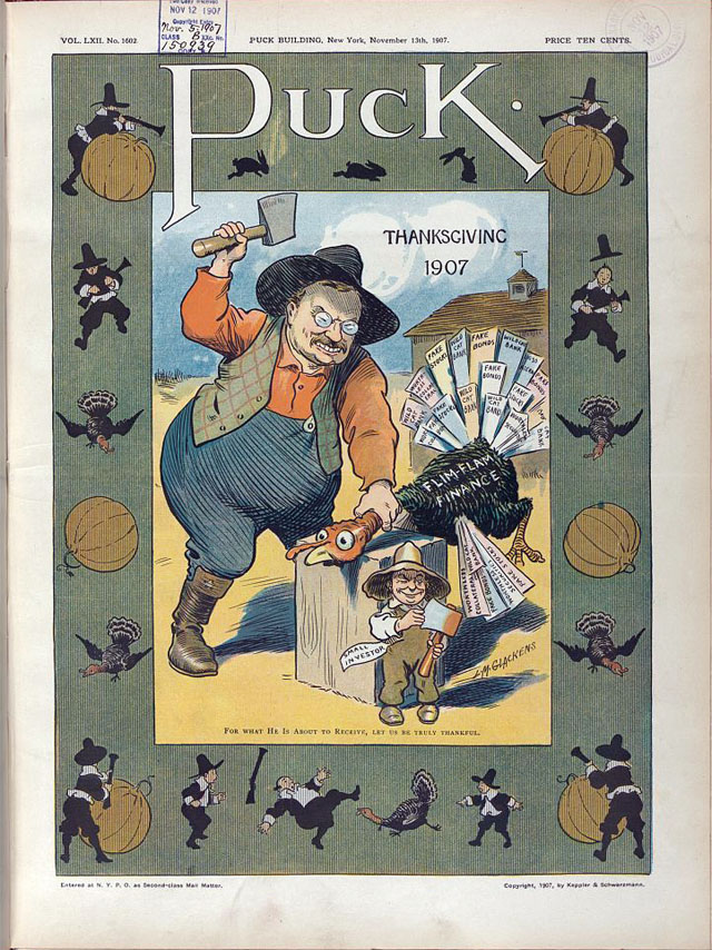 Puck magazine Thanksgiving cover - 1907