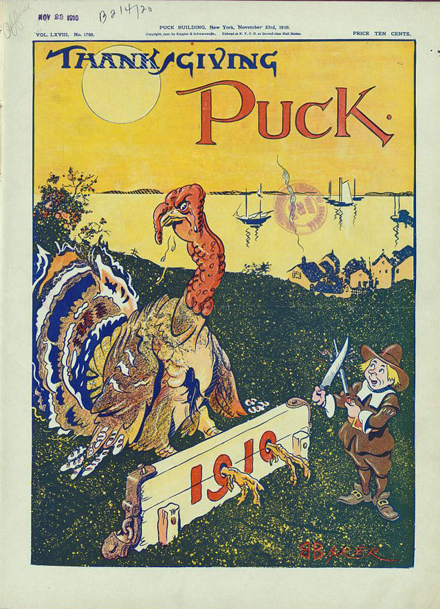 Puck magazine Thanksgiving cover - 1910