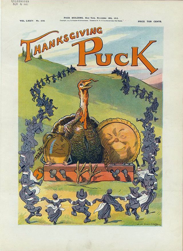 Puck magazine Thanksgiving cover - 1913