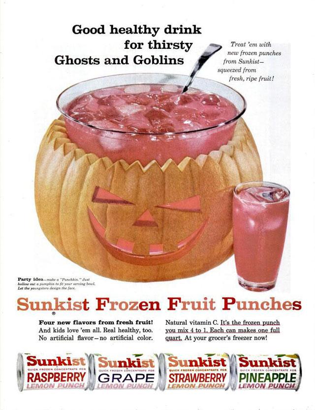 Sunkist Frozen Punch Halloween ad (1960)