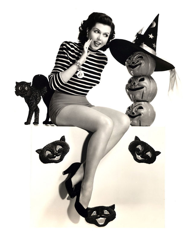 Vintage Halloween Hollywood Actress Pin-Up - Ann Miller