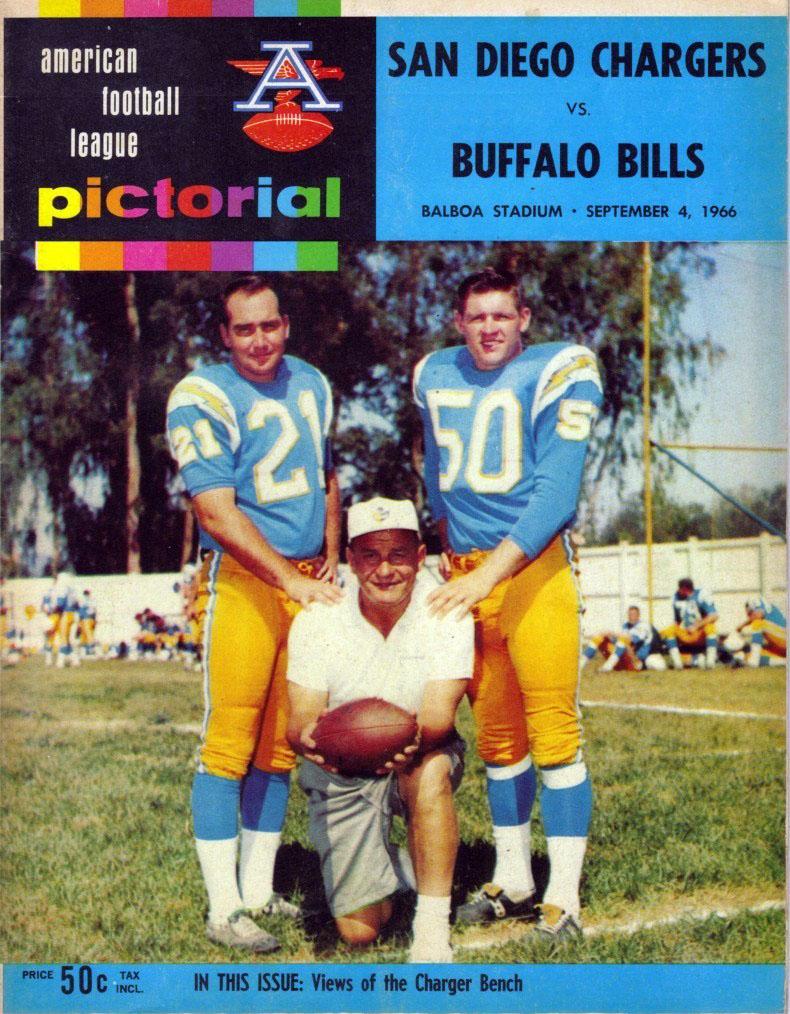 Buffalo Bills at San Diego Chargers - September 4, 1966