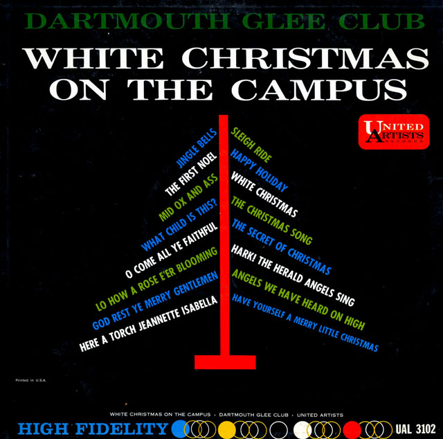 Listening Booth — Dartmouth Glee Club, White Christmas on the Campus