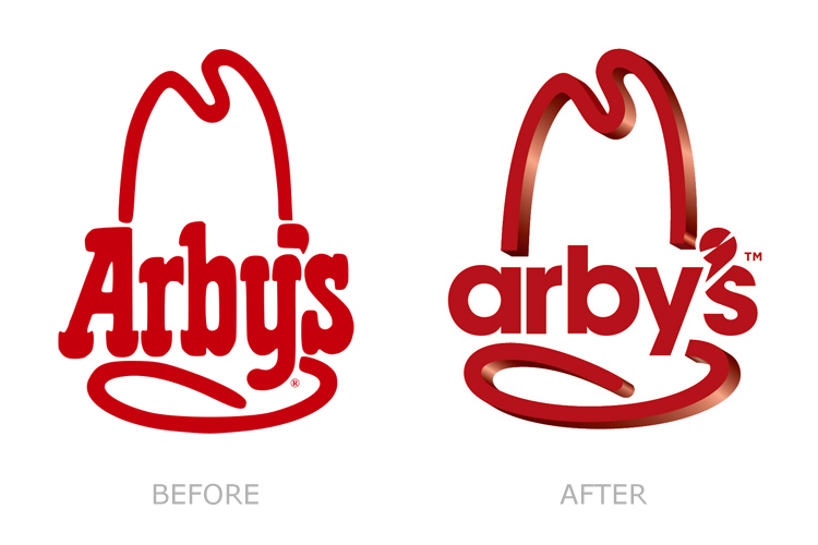 Old and new Arby's logos