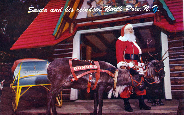 Santa and His Reindeer - North Pole, New York