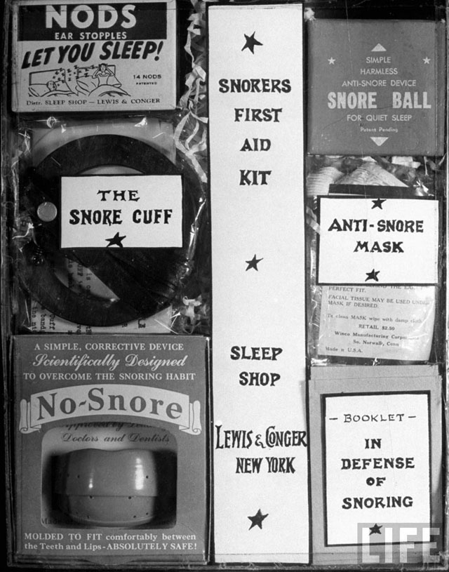 """""""Snore Stoppers"""" (Life magazine, 1949)"""