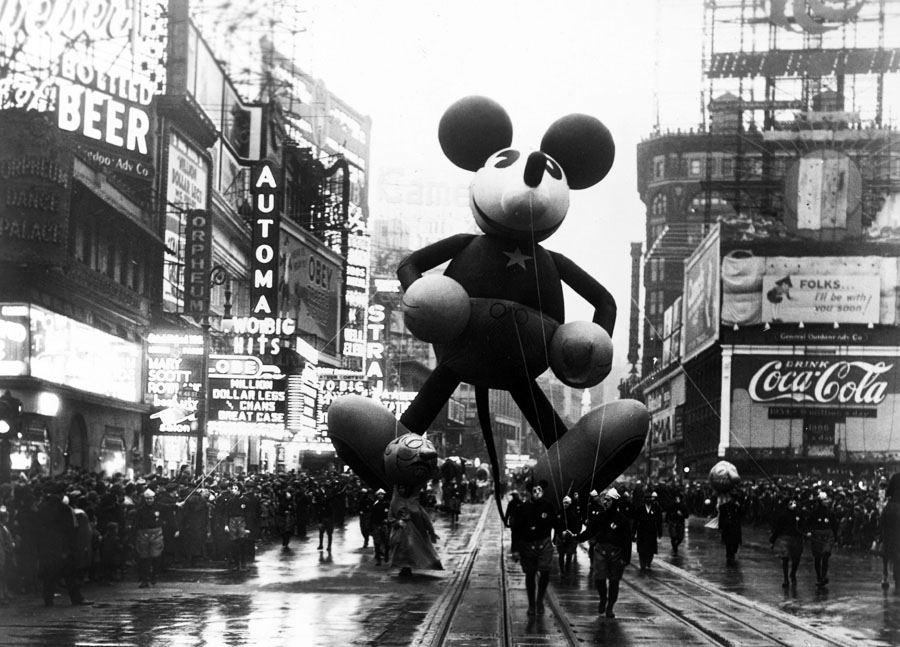 Vintage Photo Wednesday, Vol. 19: Mickey Mouse at the 1934 Macy's Thanksgiving Day Parade